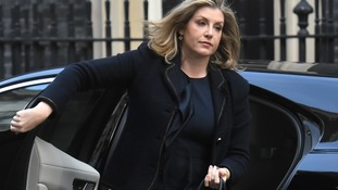 Penny Mordaunt in Downing Street for a cabinet meeting last month.