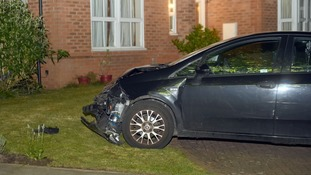 It is thought McCann crashed his car before fleeing on foot and hiding in gardens.