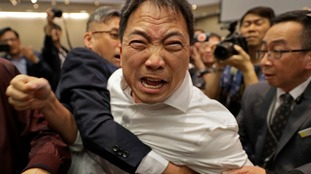Politicians brawl in Hong Kong as extradition law debate turns ugly