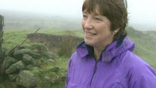 Pauline Richards on Dartmoor in 1996