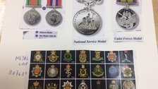 Pictures of medal collection
