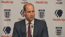 The Duke of Cambridge Prince William said more men need to talk about depression.