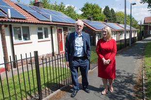 Jeremy Corbyn and Rebecca Long Bailey in Salford