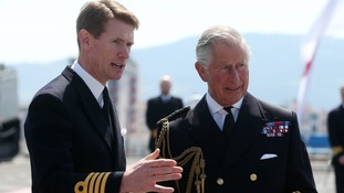 The Prince of Wales with Captain Nick Cooke-Priest.