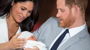 The Duke and Duchess of Sussex with Archie.