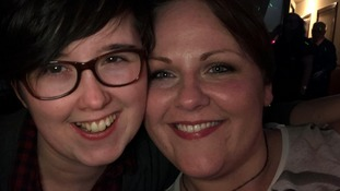 Lyra McKee pictured with her partner Sara Canning.