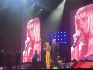 Molly and Olly performing at the O2