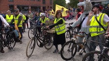 Climate change activists hold second mass cycle ride in Norwich