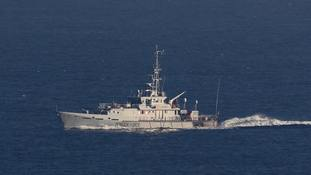 HMC Vigilant, a Border Force cutter, has been on patrol in the English Channel