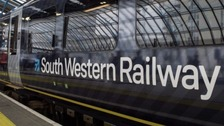 South Western Railway services were affected by the track defect.