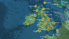 Sun and possible thundery showers on mixed day for UK