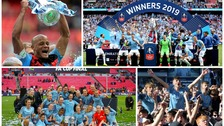 Manchester City and Manchester City Women's celebrate season of success.