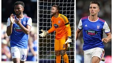 Grant Ward (left), Dean Gerken (centre) and Jonas Knudsen (right) are all leaving Ipswich Town.
