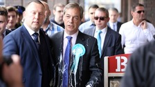 Brexit Party leader Nigel Farage  covered in milkshake during Newcastle visit - man arrested