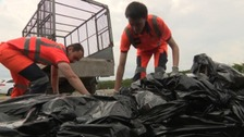 Staff were called out to deal with 20 bags of household waste dumped in a lay-by.