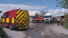 Crews tackle 400 tonne Cowbridge clothing fire