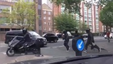 People in Maida Vale try to catch gang on bikes armed with knives, a hammer and a crowbar