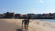 The horse sculpture will now be a permanent attraction in Wells.