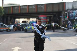 Police cordon off an area around Finsbury Park tube station