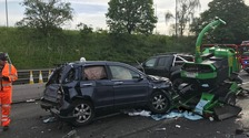 Five people injured as crash closes M1 in Bedfordshire