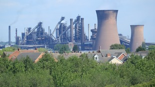 The British Steel works in Scunthorpe