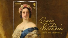 Example of Stamp of Queen Victoria marking her 200th birthday anniversary.