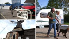The strangest polling stations open for European elections