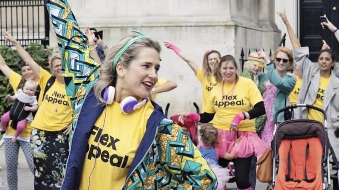 Anna has led several flash mobs across the UK to her 'Flex Appeal' anthem.
