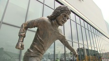 Artist 'happy' with divisive George Best sculpture