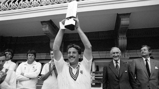 Ian Botham with the NatWest Trophy in 1983