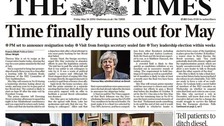 The future of Theresa May dominates the front pages