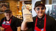 Lewis Capaldi serves up treat by dishing out Greggs to customers