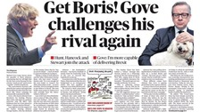 Sunday papers lead on heated Conservative leadership race