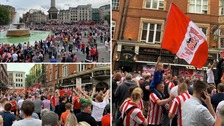 Spirits were high as supporters made their voices heard, taking over both Covent Garden and Trafalgar Square.