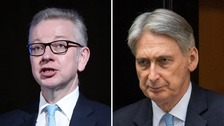 Michael Gove joins race for Number 10 as Philip Hammond warns over No-Deal support