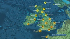 Weather: Sunny spells and occasional showers