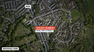 map showing location of robbery