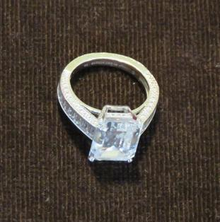 A £1.1 million Cartier diamond ring seized by the NCA