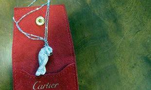 An item of Cartier jewellery seized by the NCA