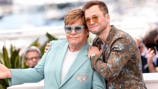 Sir Elton John with Taron Egerton