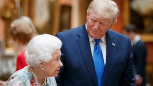 US President Donald Trump visited the Queen on his state visit.