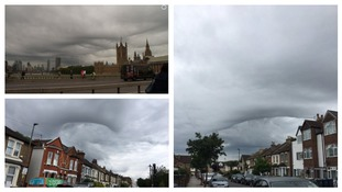 Asperitas clouds over London were branded a 'creepy' sight by some social media users.