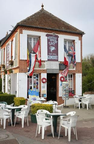 The Cafe Gondree situated near Pegasus Bridge in Normandy
