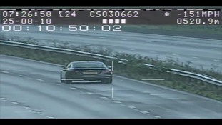 The Audi was clocked speeding at 151mph.