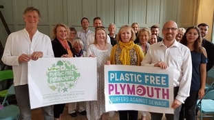 Campaigners celebrate Plymouth's new Plastic Free City status