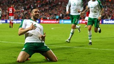 Shane Duffy celebrating his goal.