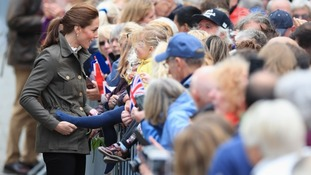 Kate greets wellwishers during a walkabout in Keswick town centre during a visit to Cumbria.