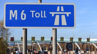 An M6 Toll sign
