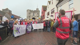 Campaigners march after student attacked in Canterbury