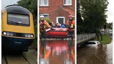 Rain and flooding causes disruption across the Midlands